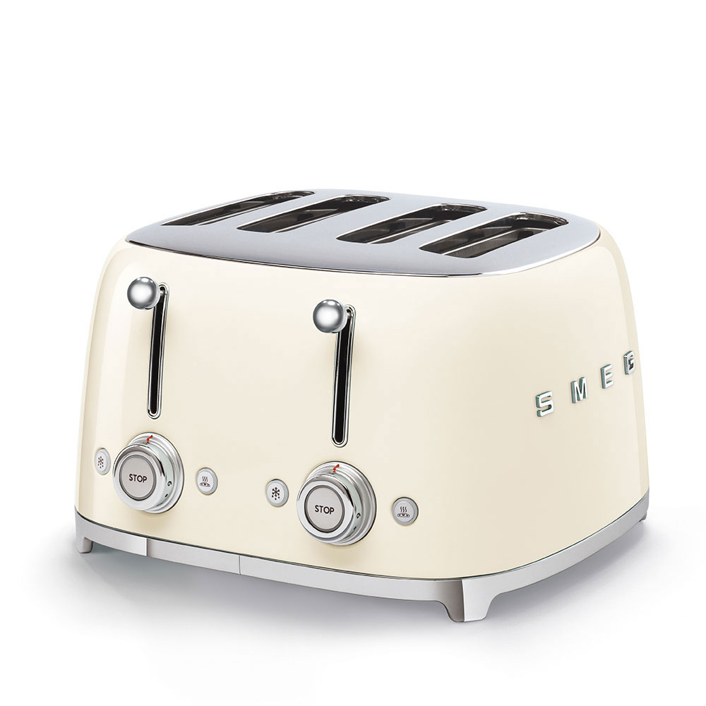 Smeg 50's Style Retro 4 Slice Toaster Cream