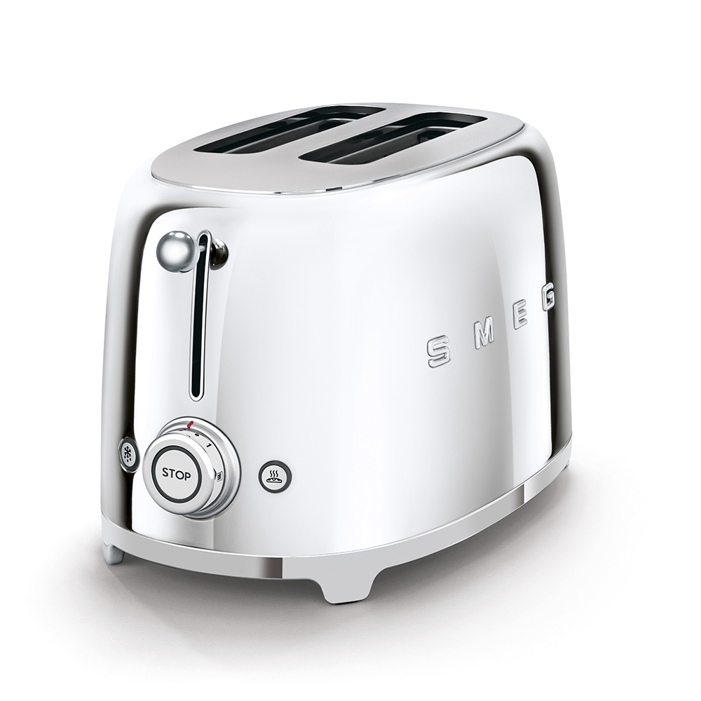 Smeg 2 Slice Toaster Chrome