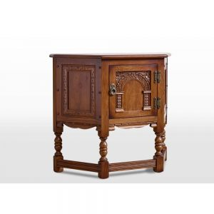 Old Charm Canted Pedestal Cabinet