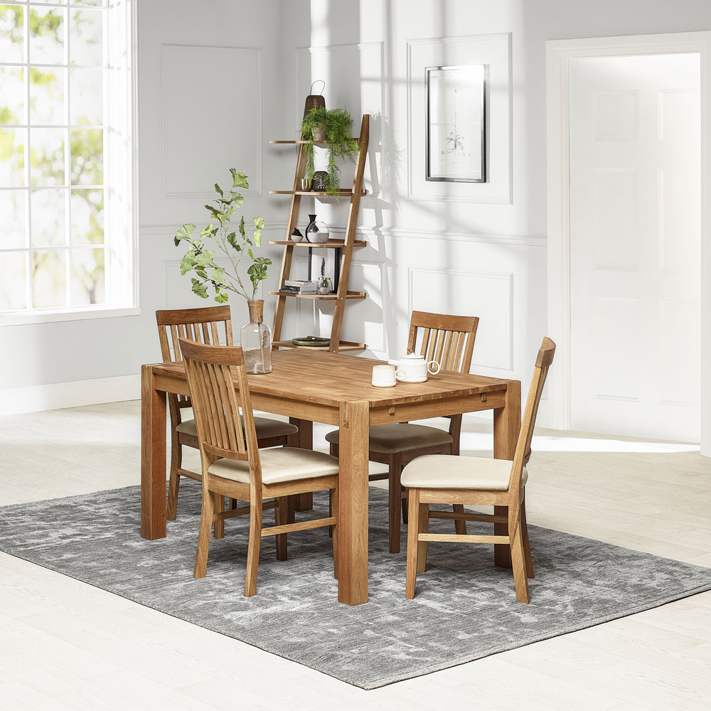 Royale Small Dining Table 140cm & Four Fabric Dining Chair