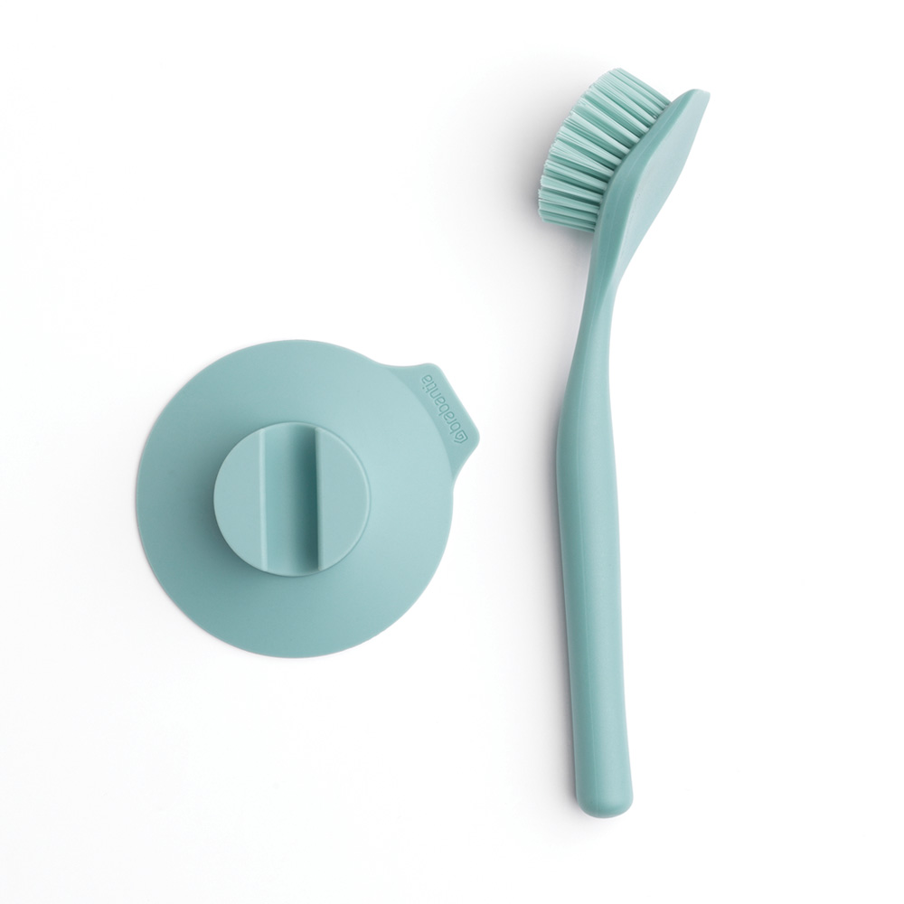 Brabantia Dish Brush with Suction Cup Holder Mint