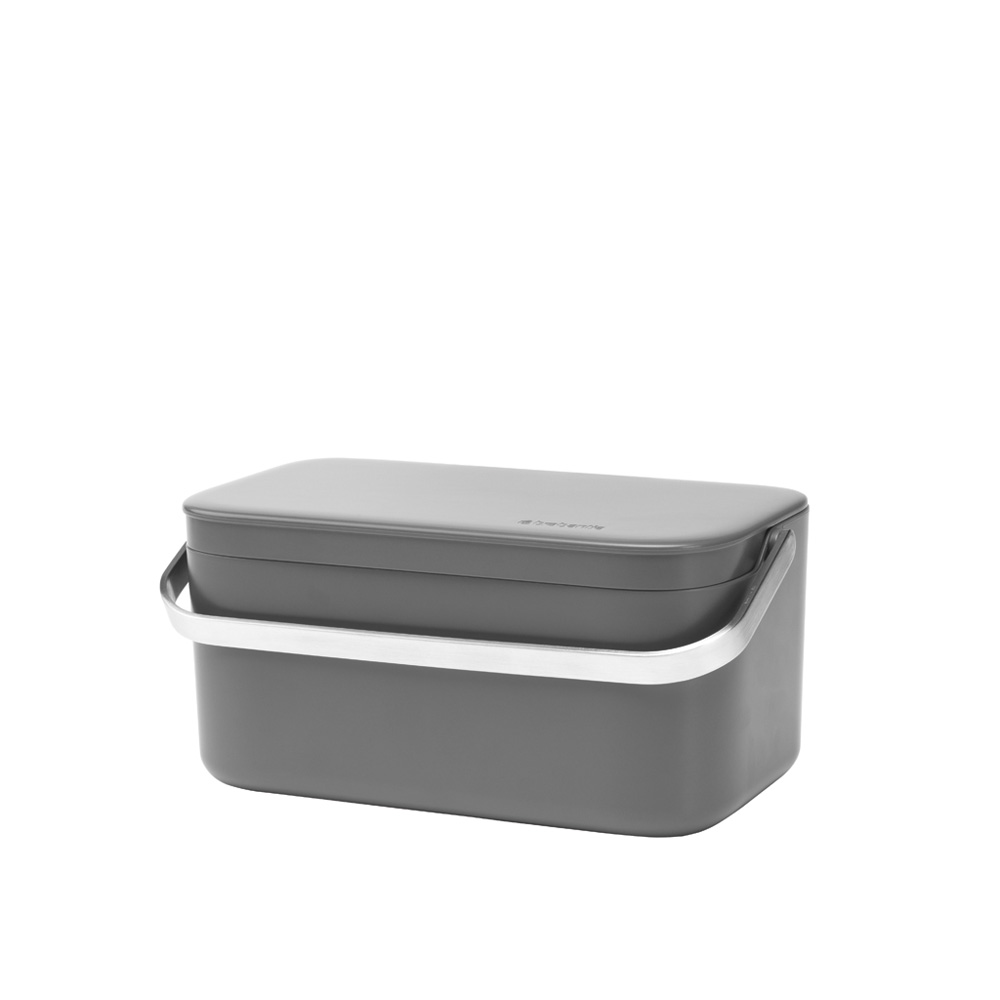 Brabantia Food Waste Caddy 1.8L Dark Grey