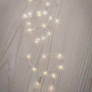 Indoor Wire Lights In Silver 3m