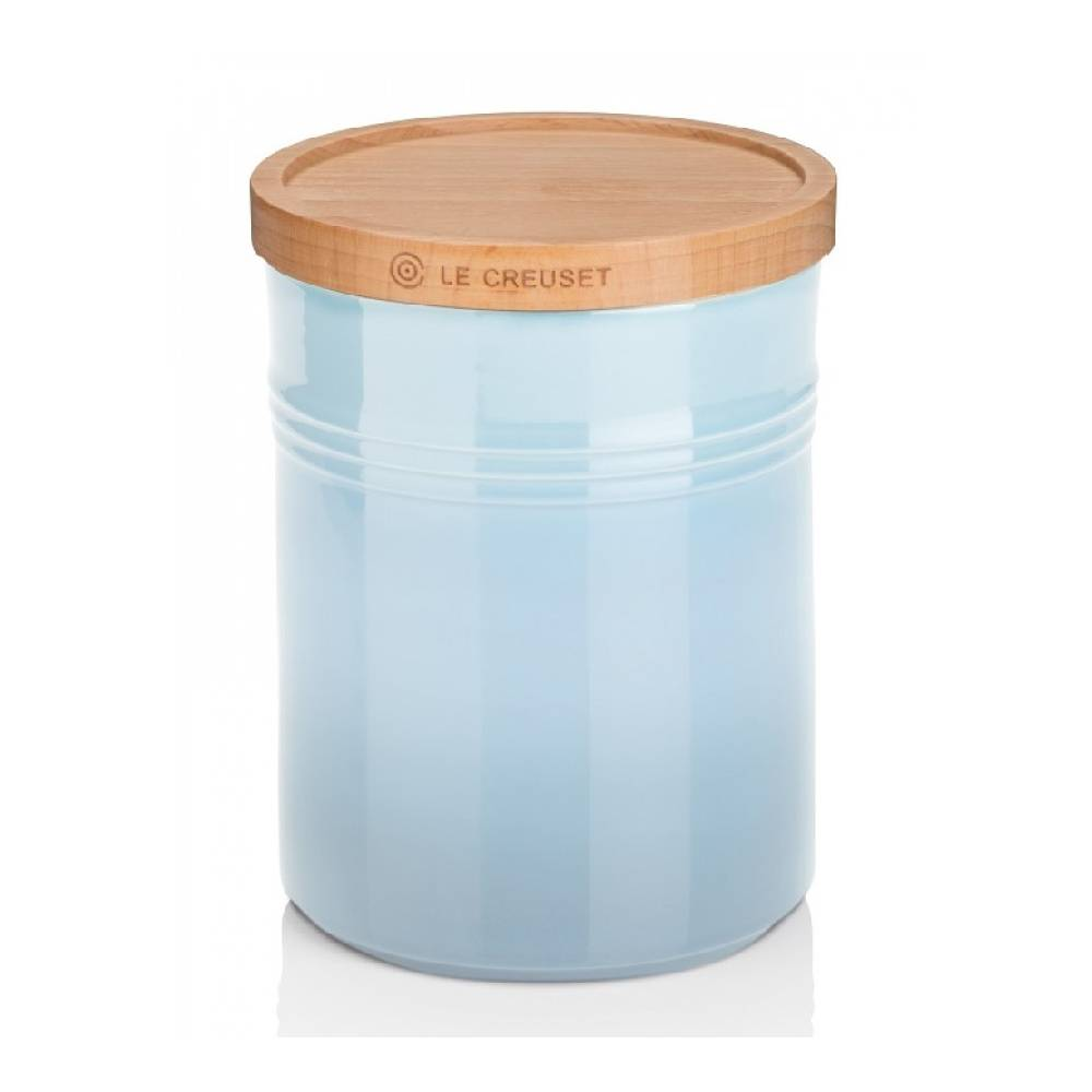 Le Creuset Medium Storage Jar with Wood Lid