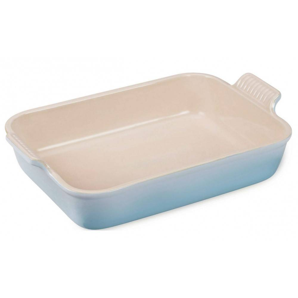 Le Creuset Deep Rectangular Dish 32cm Coastal Blue