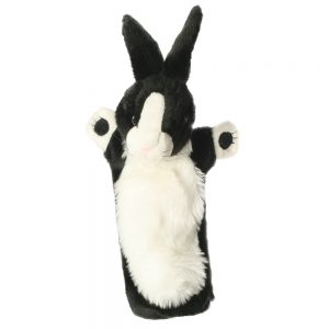 Long Sleeved Puppet Black & White Rabbit