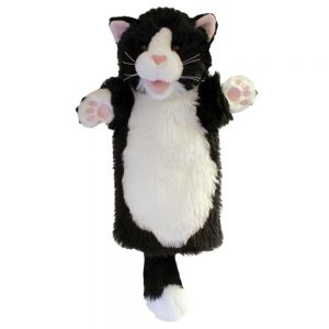 Long Sleeved Puppet Black & White Cat