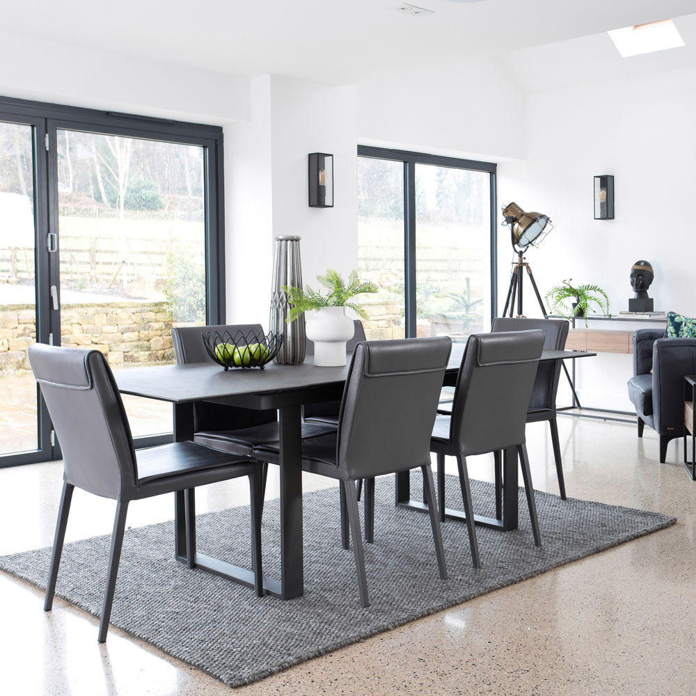 Palermo Extending Dining Table and Four Dining Chairs