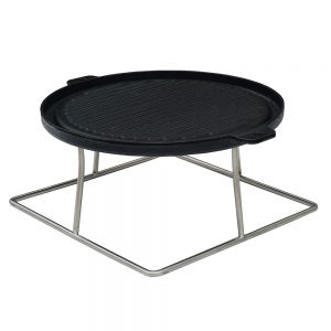 Bramblecrest Griddle with Square Bracket for Dining Table with Fire Pit