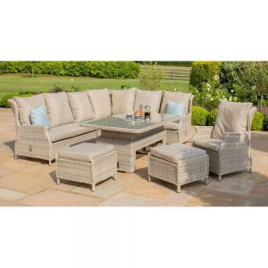 Yoxford Reclining Corner Dining Set with 2 Footstools