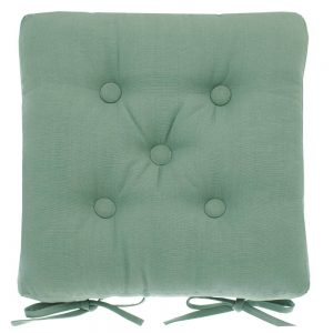 Seat Pad With Ties Moss Green