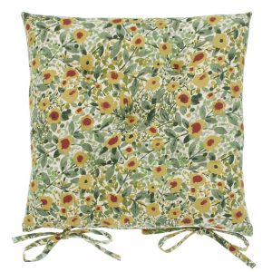 Wildflower Seat Pad With Ties