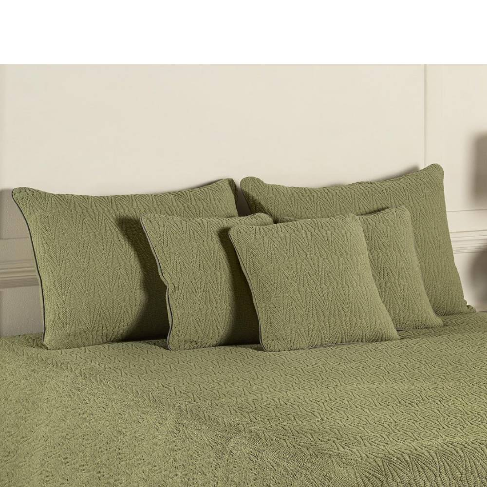BUXTON 40 X 40 CUSHION COVER OLIVE GREEN