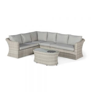 Oakham Large Corner Sofa Set including Coffee Table with Fire Pit