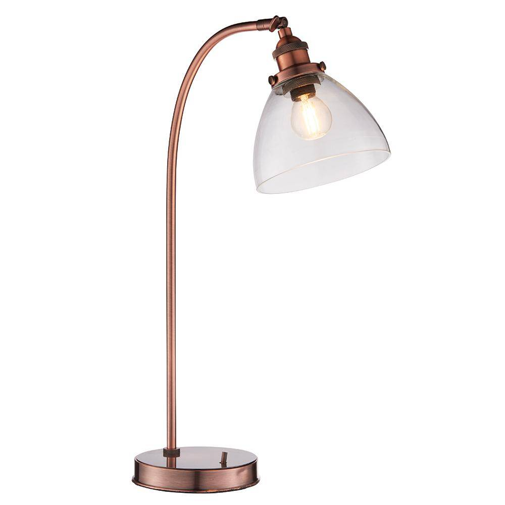Hoxne Table Lamp Aged Copper