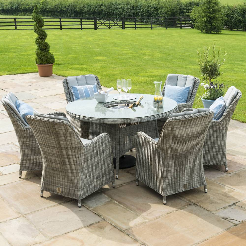 Oakham Round Ice Bucket Dining Table with 6 Chairs