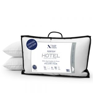 Hotel Duck Feather & Down Pillow Pair