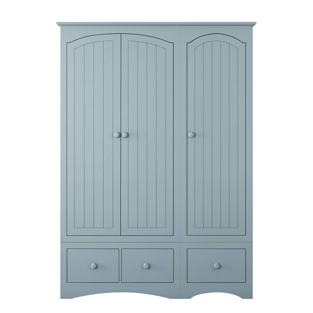 Solar Large Triple Wardrobe with 3 Drawers