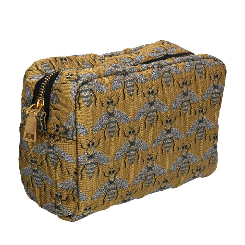 Gisela Graham Gold Bee Cosmetic Pouch