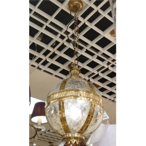 Vienna 305mm Brass Ceiling Pendant with Mercury Glass Shade