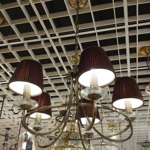 Carousel 5-Light Ceiling Pendant Bronze with Coffee Shades