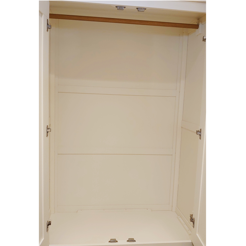 Bromley Gents Double Wardrobe White