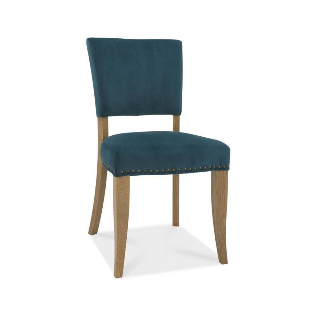 Rustic Upholstered Dining Chair Sea Green