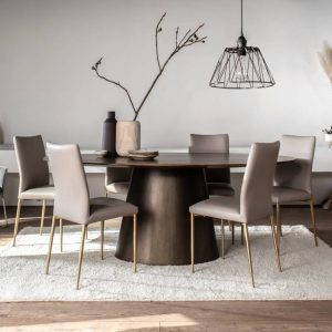 Java Oval Dining Table & 4 Chairs