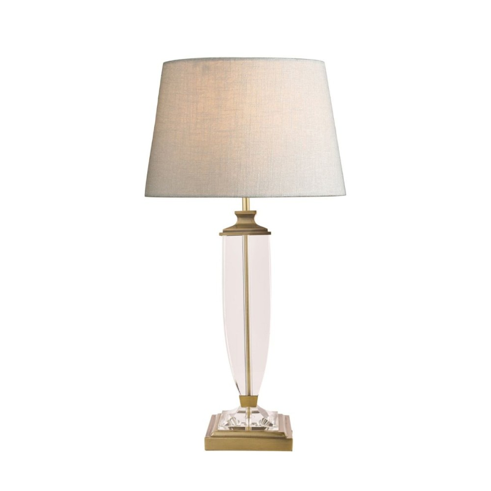 Laura Ashley Carson Antique Brass & Crystal table Lamp Large