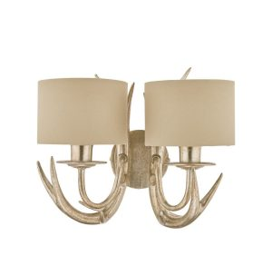 Laura Ashley Mulroy Double Wall Light With Shades
