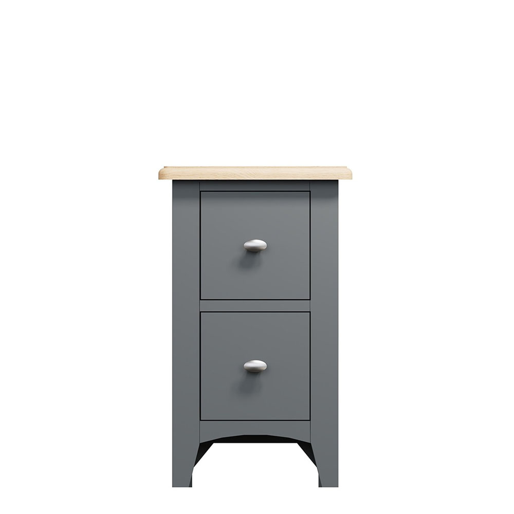 Carlton Small Bedside Chest Charcoal