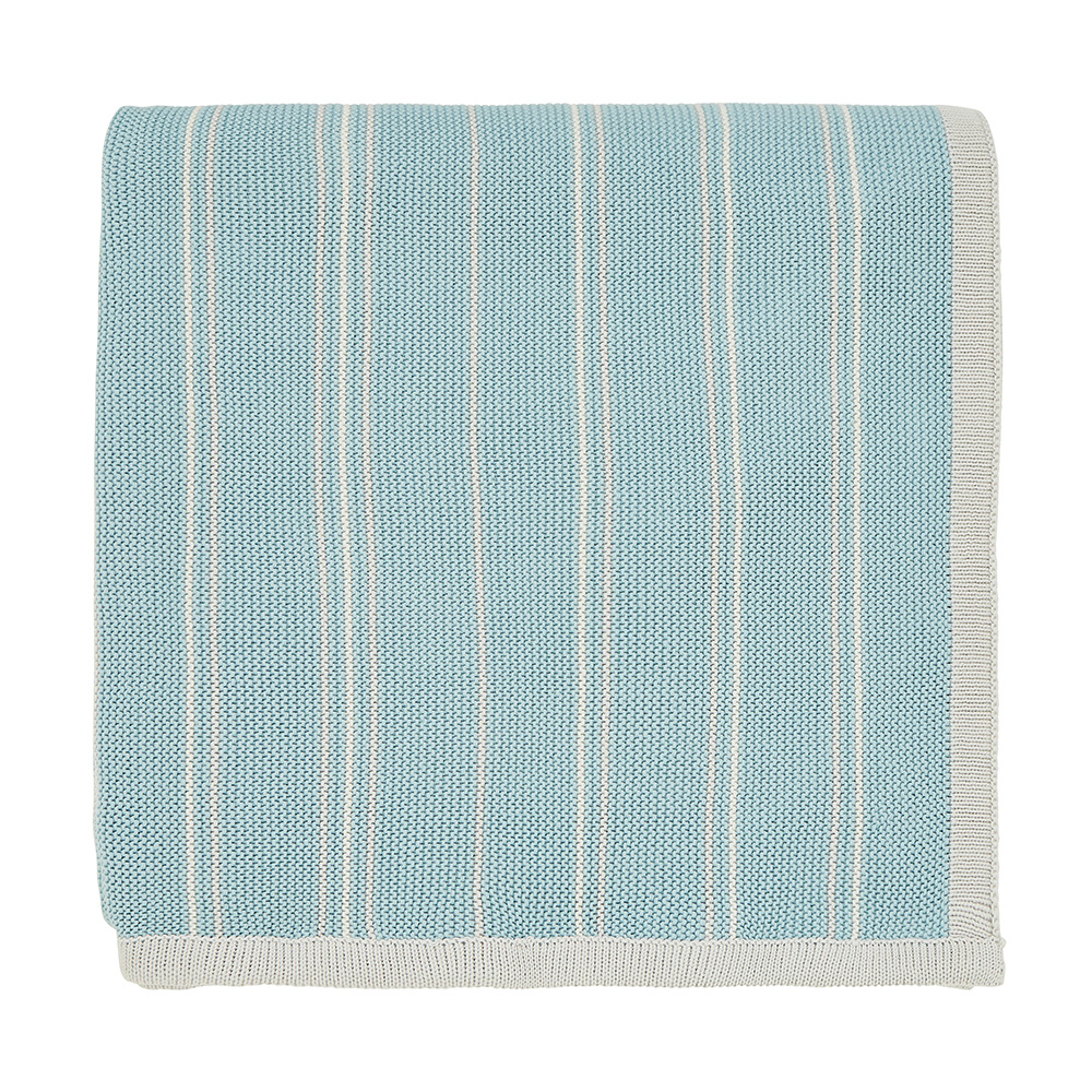 Sanderson Home Pippin Knitted Throw Teal 130x170cm