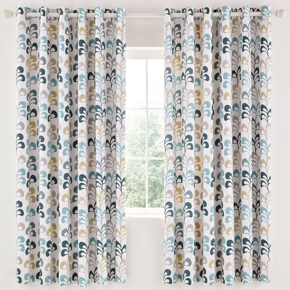 Helena Springfield Liv Lined Curtains 66x72 (168x183cm) Teal