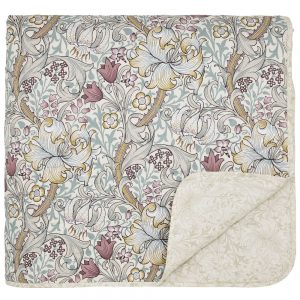 Morris Golden Lily Throw Fig