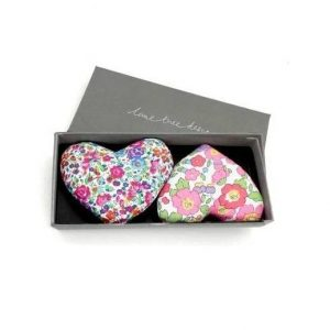 Box of 2 Lavender Hearts - With Love