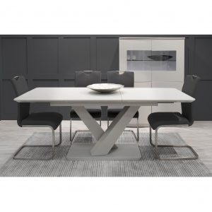 Donatello Extending Dining Table 160-200cm & Four Dining Chairs