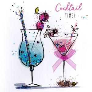 Cocktail Time Birthday Greetings card